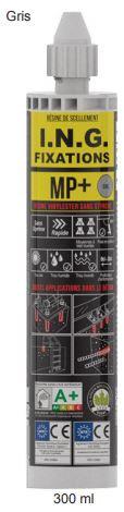 Kit scellement 12 fixations asphalte Ø12x100 + TH 10/25 + résine 300 ml MP+ ING FIXATIONS - A860021