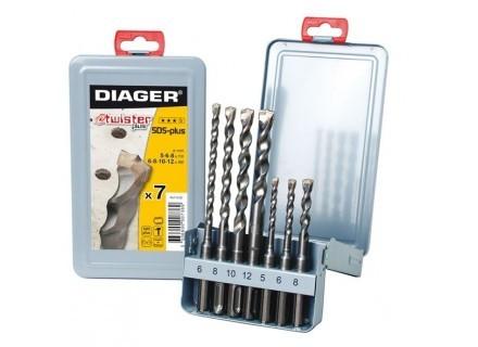 Coffret 7 forets béton DIAGER SDS+ DIAGER - 105D
