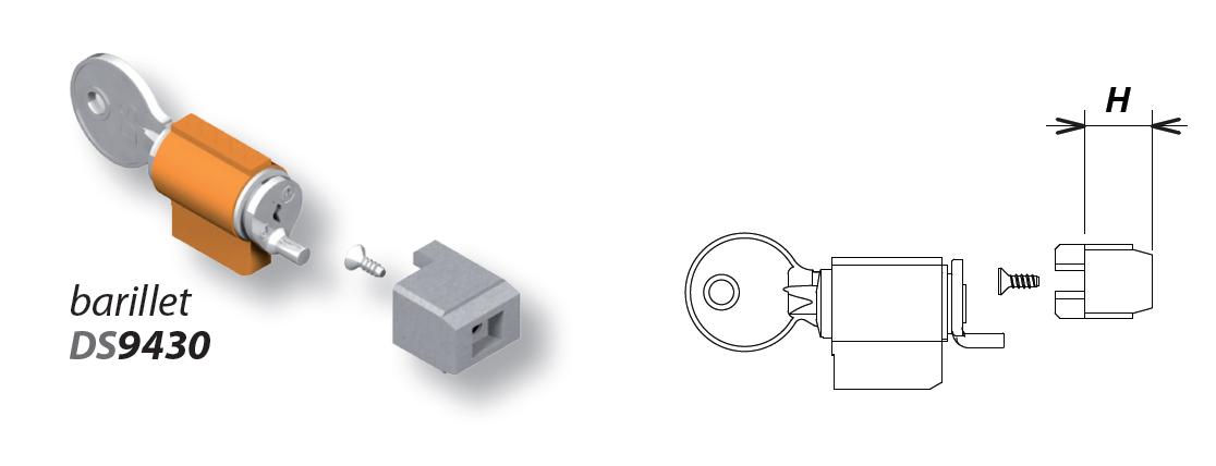 Kit barillet LA CROISEE DS pour SOLO et SENZO - Profil 35 à 36 mm - 9434-MV