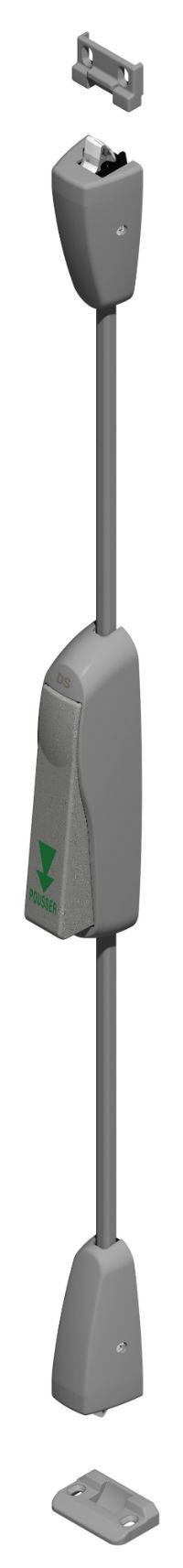 Fermeture d'urgence Sevad avec tringle CROISEE DS - grise - 8250-0-7