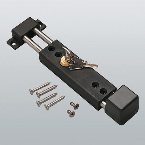Verrou applique à clé LG/220MM SAVIO - Noir - 1589.52 NE
