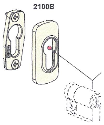 Rosace cylindre antivol 2100B FAPIM - blanc tech - 2100B_QT