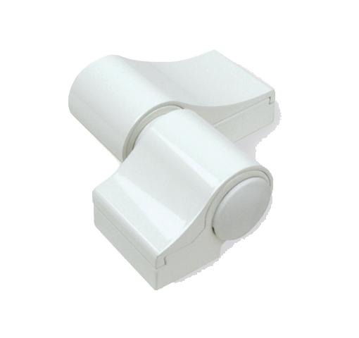 Paumelle Loira+ douille à visser rupture Blanc 9010 FAPIM - sans kit de fixation entraxe 60 ép.20 FAPIM - 7000VI-32