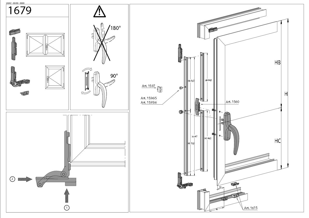 Kit de fermeture FAPIM - 1679