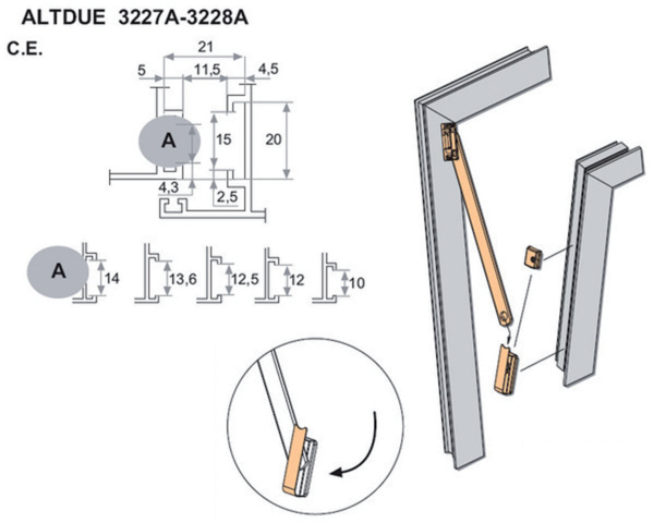 Paire de compas à soufflet Altdue 150 mm FAPIM - 3228A