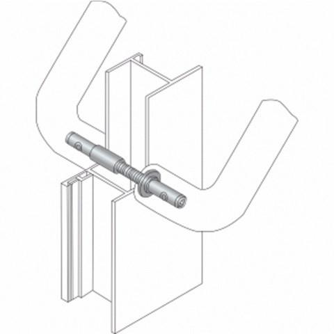 Fixation double face 50/60 HEWI pour support droit - BA8.50.60