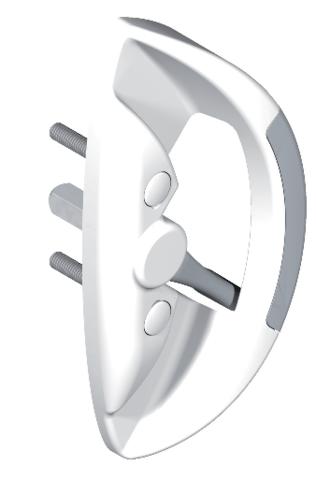 Poignée de manœuvre CROISÉE DS - série Séduction - Montage simple - QPE06124