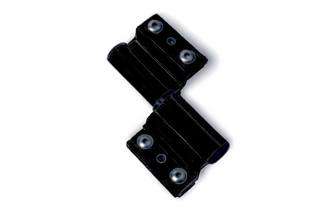 paumelle porte lourde alu monza fapim pour profil velox. Black Bedroom Furniture Sets. Home Design Ideas