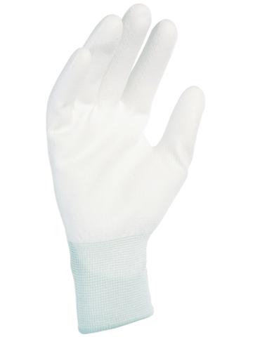 Gant nylon enduit blanc SINGER - Manutention légère en milieu sec - Taille 10 - NYM213PU10