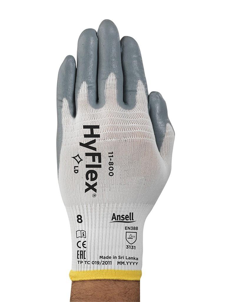 Gant HyFlex FRANCE SÉCURITÉ mousse nitrile - taille 08 - S233070-08