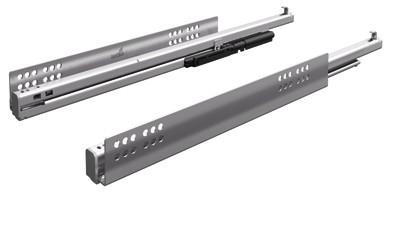 Paire de coulisses Quadro V6 + Silent System HETTICH - Larg.9.5 mm - Charge 50 kg - 907906