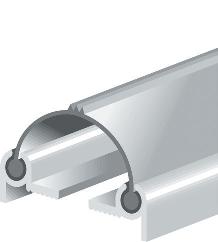 Profil alu BB seul pour joint à battement ELTON - 224cm - 4501601