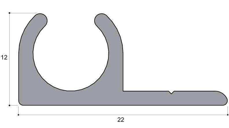 Profilé alu longueur 2 m DUAL JOINT - ALU E AR