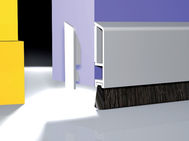 Profil adhésif 3m x 40x8mm avec brosse 10mm FR CLAFEUTRAGE - Blanc - 0703101