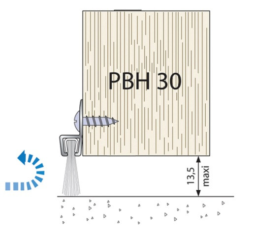 Profil brossé PBH 40 mm DUVAL lg.3 m - 01-PBH40-3000