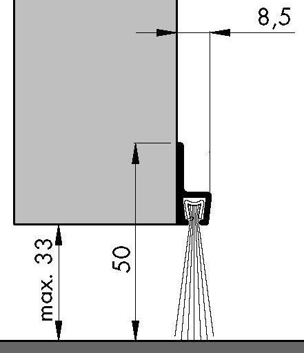 Bas de porte profilé à brosse IBS50 ELTON - 2.50ml - 0308102D