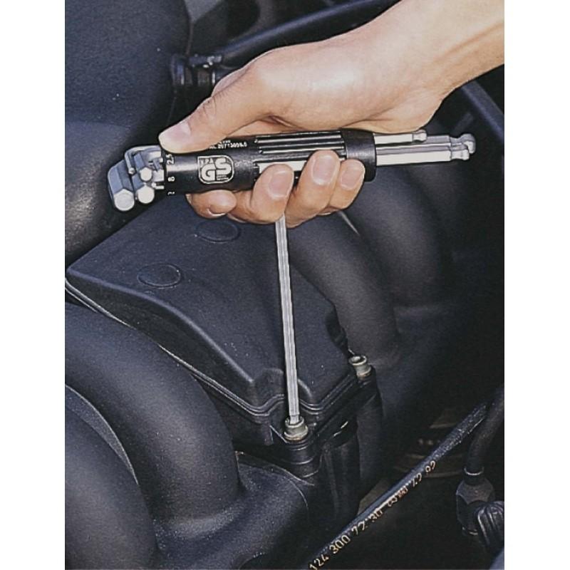 Jeu de clés mâles 6 pans tête sphérique longues KS TOOLS - 2-2.5-3-4-5-6-8-10 mm - 151.2100