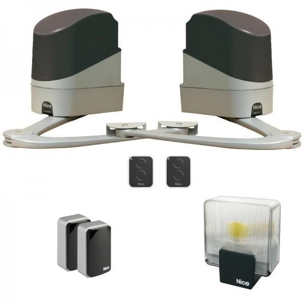 Kit automatisme et accessoires pour portail battant Popkit NICE - QPE08659