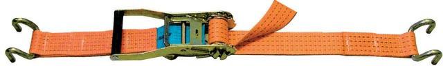 Sangle arrimage LEVAC - Larg.50 mm - 5000 Kg - 2 Crochets bord de rive - L.10 m - 4570C10