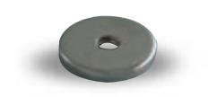 Contre plaque ronde W4 pour loqueteau MS ARELEC - Ø12 mm - Fixation vis centrale - W4