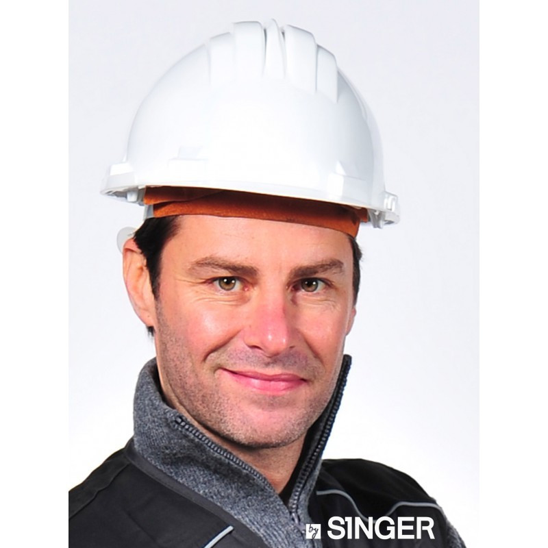 Casque de chantier SINGER en polyéthylène - Blanc - CAS5RSW