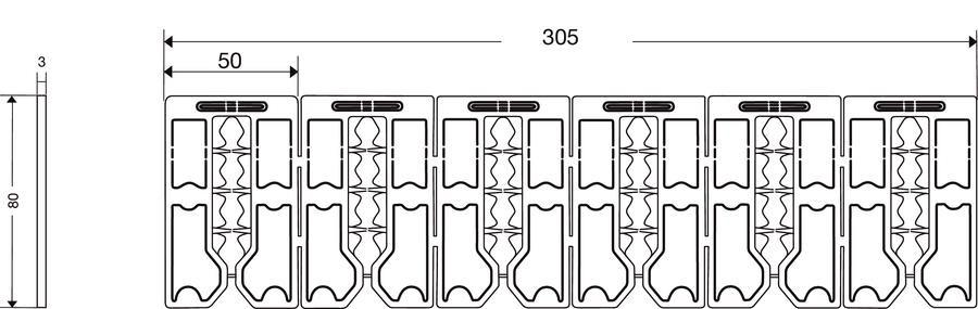 Jeu de 6 cales de compensation NICOLL ép.3 mm - CAL63BELRIV