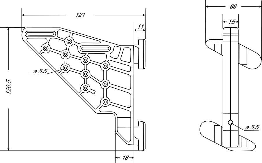 Plaquette PVC universelle NICOLL pour bandeau et habillage de rive - APLAQ
