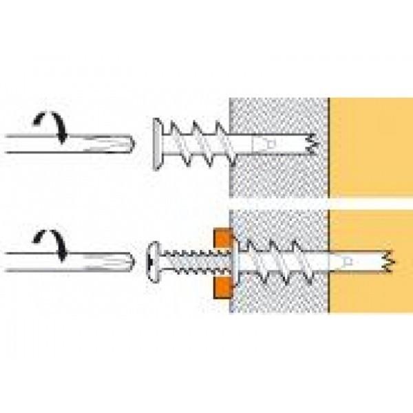 Boîte de Chevilles Driva tête plate SPIT - L.35 mm - Ép. maxi pièce à fixer 12 mm - QPE08647