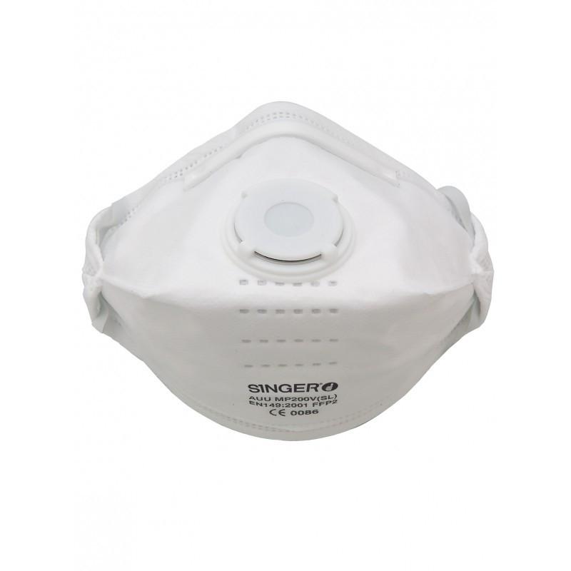 Demi-masque pliable avec valve SINGER FFP2 NR D - AUUMP200VSL