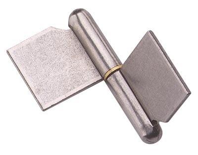 Paumelle de grille à souder MONIN - Lame standard ou forte dans l'axe - Acier décapé - 6008-6400