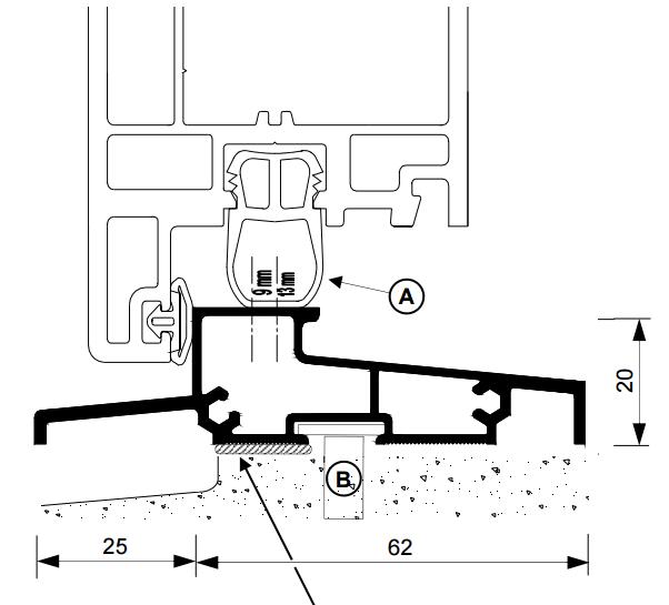 Seuil pour porte PVC OLT BILCOCQ - PVC - 6.03 m - OLT