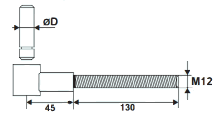 POLYGOND à clips renforcé M12 TORBEL - Noir - 611