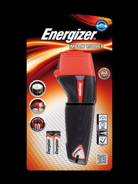 ER2AA Torche ENERGIZER Impact Rubber LED +2AA - 639381