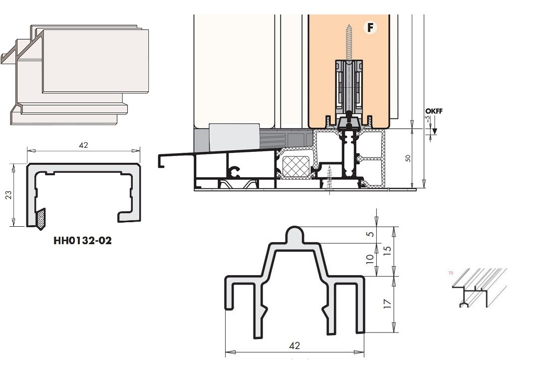 Plan Porte À Galandage système de porte coulissante portal série hs siegenia
