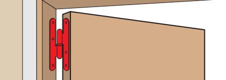 """Paumelle droite bouts ronds """"Loutre Sedan ®"""" TORBEL - Droite ou Gauche - Bichromée - J530"""