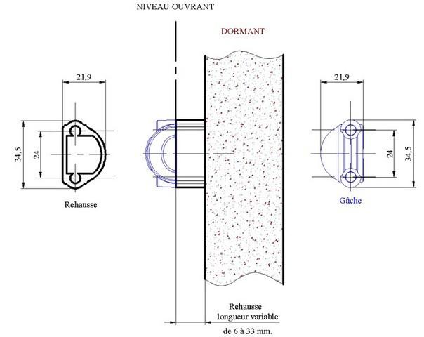 Barre de réhausse MAP MASSARD - fer cémenté - 0.5m - BREH50FC