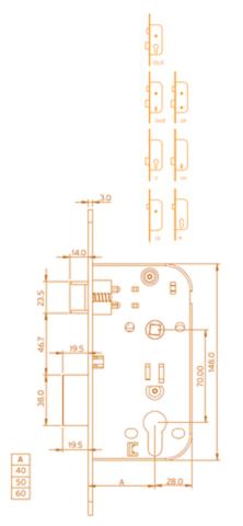 Coffre à cylindre MARQUES SA série 725 - 6