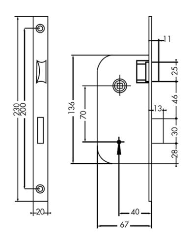 Serrue 4 gorges à mortaiser JPM - noir - QPE06422