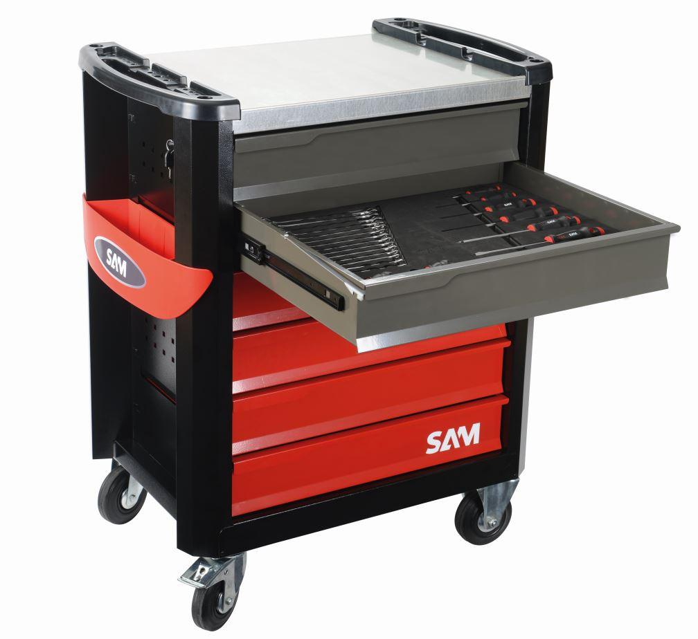 Servante d'atelier - 220 outils 6 tiroirs + 2 enceintes offertes - SAM - CPP-220M4Z