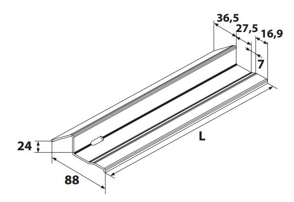 seuils porte de garage r491 torbel t le galvanis mm mm p79107 seuil. Black Bedroom Furniture Sets. Home Design Ideas