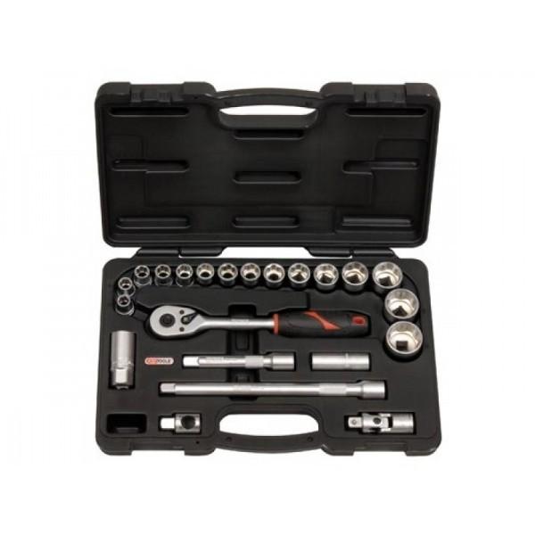 Coffret de douilles 1/2 - 22 pièces, de 10 à 32 mm TORX - 911.0622