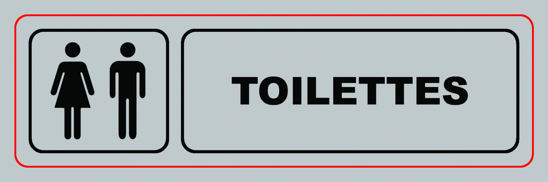 Panneau VISO Toilettes - 170 x 50 mm - S24