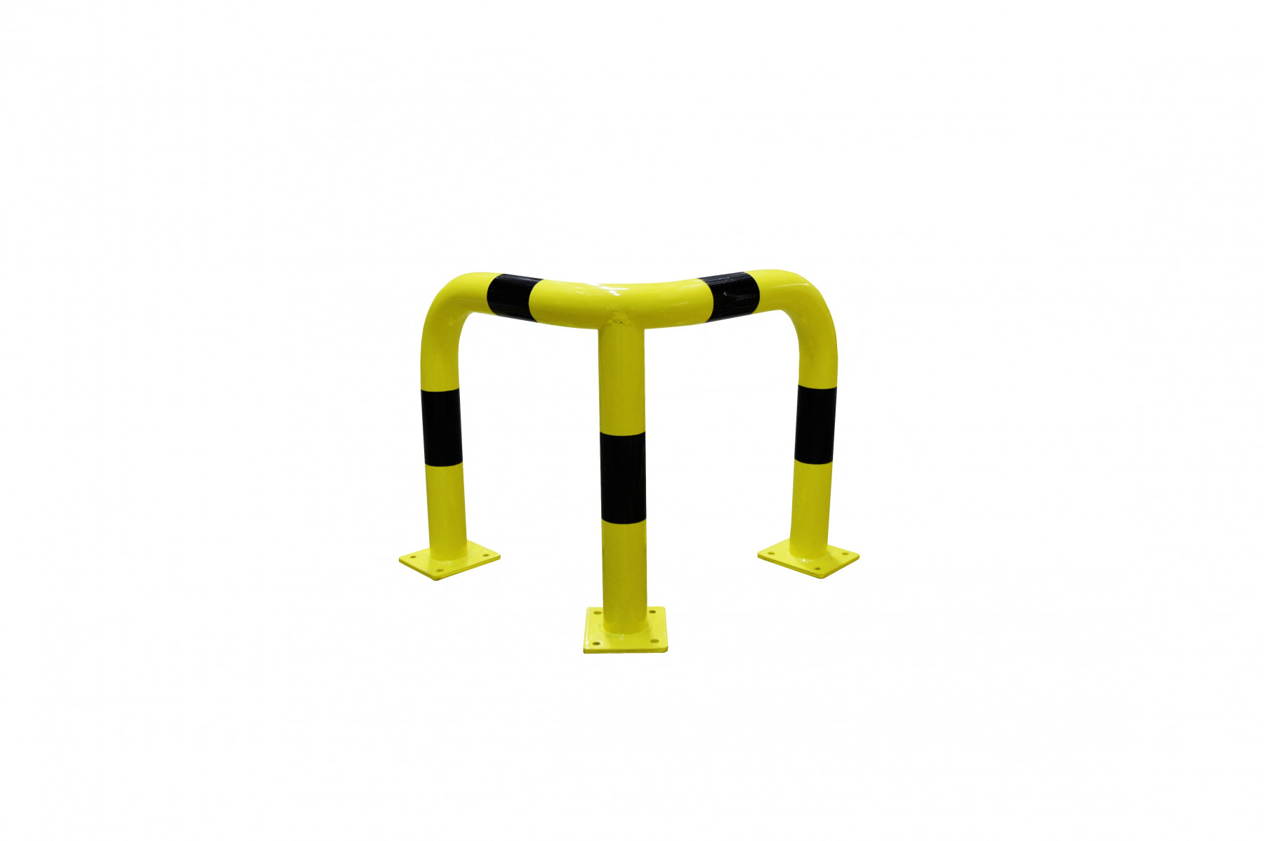 Arceau d'angle jaune et noir VISO - 600 x 600 x 600 mm - Ø76 mm - BARA6066NJ