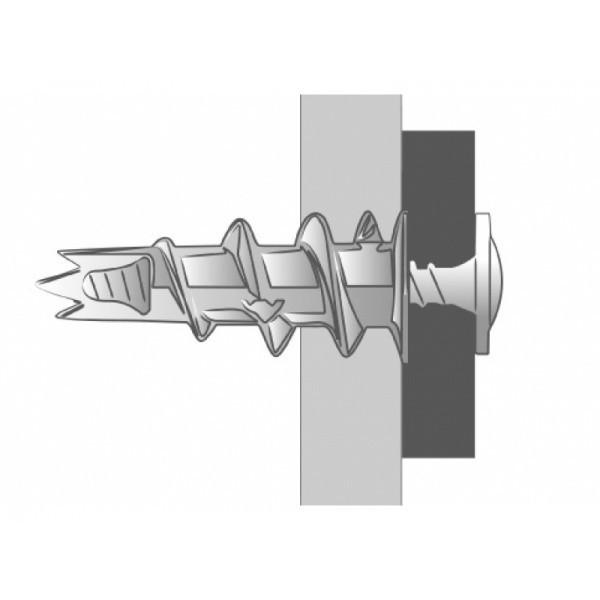 Boîte de 50 pièces Cheville plaque de plâtre nylon Krono SCELL-IT - Ø 4,5 x 30 mm - Tête ronde - KRONO-YR