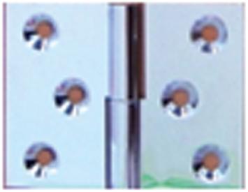 Paumelle laiton chrome 40x50 droite - PO4150S03