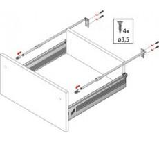 Système de tiroir Multitech - HETTICH - kit reling - 405350