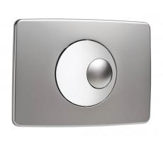 Plaque de commande NICOLL Double volume - Chromé velours et brillant - 0709189