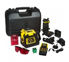 Niveau laser rotatif STANLEY RLHVPW  +  Cible magnétique + batterie rechargeable + chargeur + télécommande - 1-77-427
