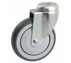 Roulettes pivotantes à platine ronde AVL - Roue caoutchouc - 550O
