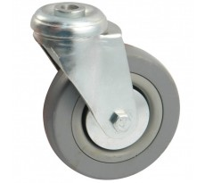 Roulettes pivotantes à oeil AVL - Roue caoutchouc - 550H